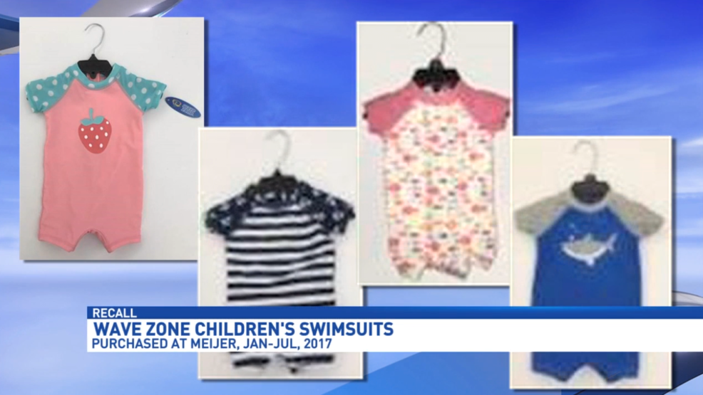df9ee9f8c Meijer recalling one-piece swimsuits for small children, due to choking  hazard