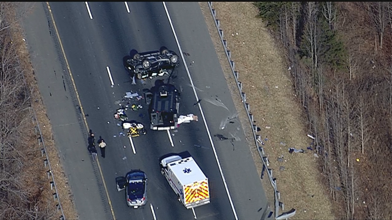 Photo: WJLAA man has been flown to the hospital with serious injuries after Virginia State Police say he got out of his car, fired shots at a deputy and a trooper, then got back into his car and crashed Thursday morning. (Photo: SkyTrak7/WJLA)<p></p>