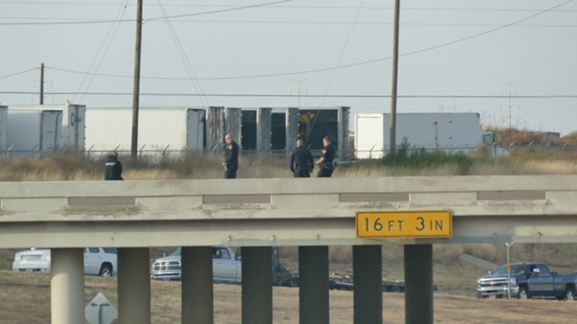 Reports from an ABC 7 crew on the scene say police have the a man surrounded on the bridge at Lakeside Drive and Amarillo Boulevard. (ABC 7 Amarillo - Steve Douglass)<p></p>