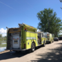 Firefighters rescue man trapped in small canal in Eagle