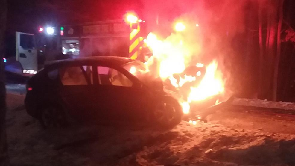 Car Catches Garage On Fire In Rochester: Two Injured After Car Hits Tree, Catches Fire In Rochester