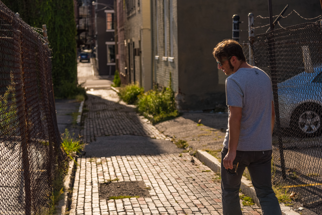 NAME: Grear Alley (pictured: Christian Huelsman of Spring In Our Steps) / CONNECTS: Broadway Street to Main Street / NEIGHBORHOOD: Pendleton & OTR / Image: Phil Armstrong, Cincinnati Refined