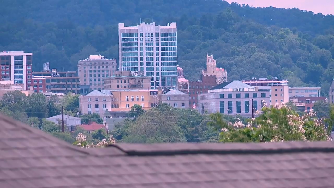 The Asheville City Council is meeting Tuesday night and a vote on the proposal to cut police department funding is on the agenda. (Photo credit: WLOS staff)