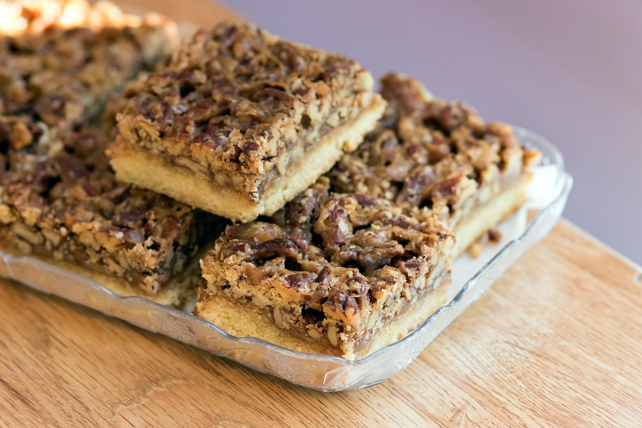 Pecan bars{ }/ Image: Allison McAdams // Published: 11.9.18
