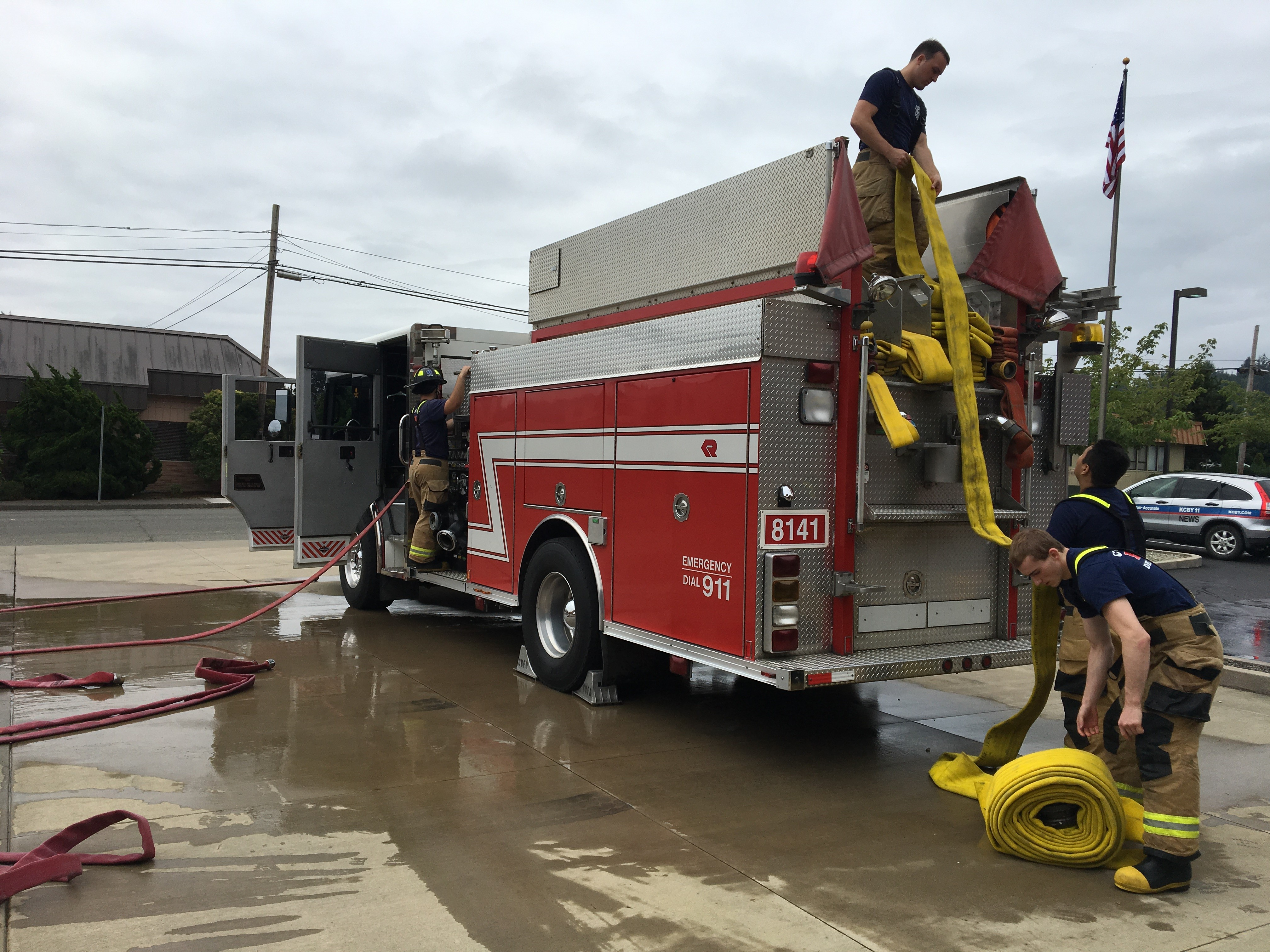 Emergency services academy at Coos Bay Fire Department, Sept. 8, 2017. (SBG)