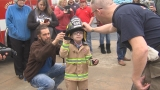 Boy with CHARGE Syndrome becomes firefighter for a day