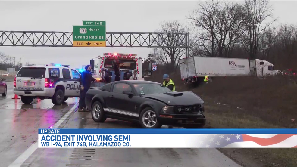 I-94 traffic backed up for miles due semi crashing into a