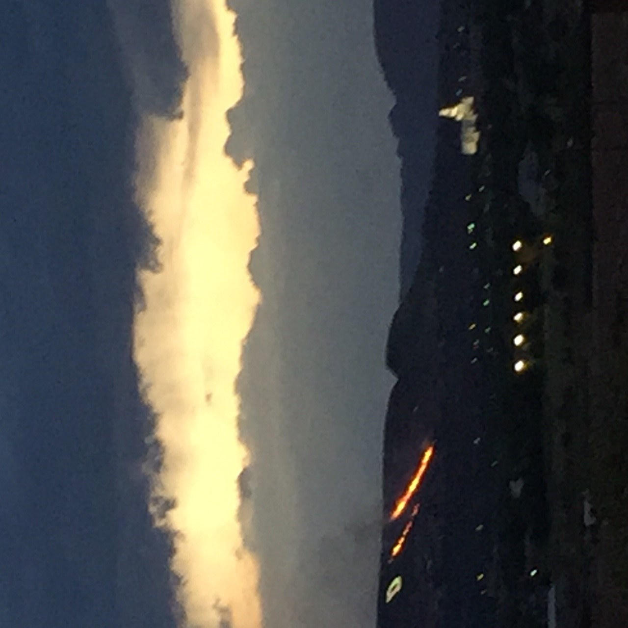Fire burning on Black Hills in St. George. (Photo: Denise Paul)