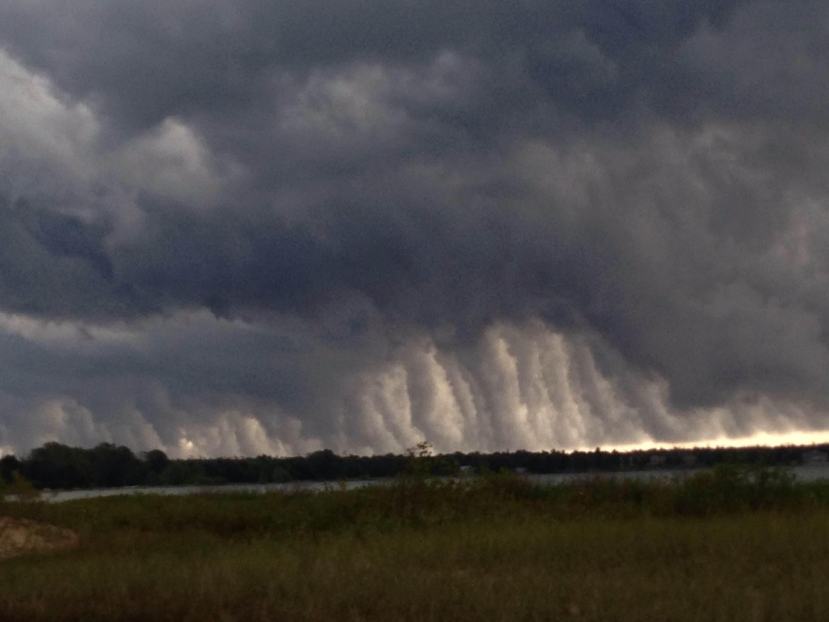 "Aug. 14: ""Fascinating clouds in Bailey's Harbor"" (Submitted by Steve Wisniewski)"