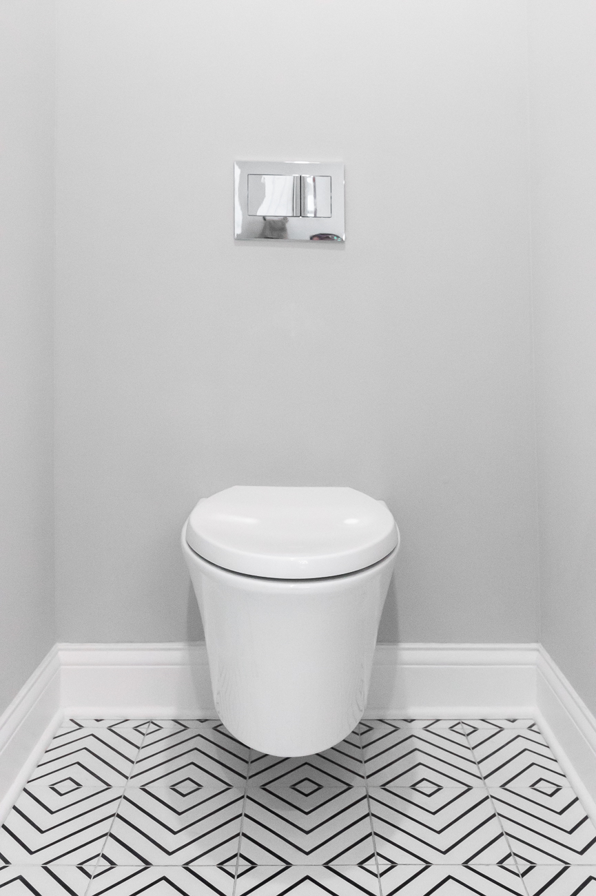The toilet sits in its own area. / Image: Phil Armstrong, Cincinnati Refined // Published: 6.5.20