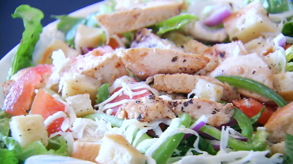 Here we have their famous chicken salad with Parmesan cheese. (News 4 San Antonio)<p></p>