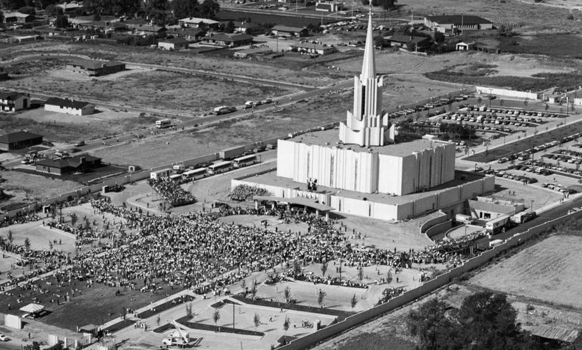 The Jordan River Utah Temple in 1981 at the time of the open house. ©ALL RIGHTS RESERVED.