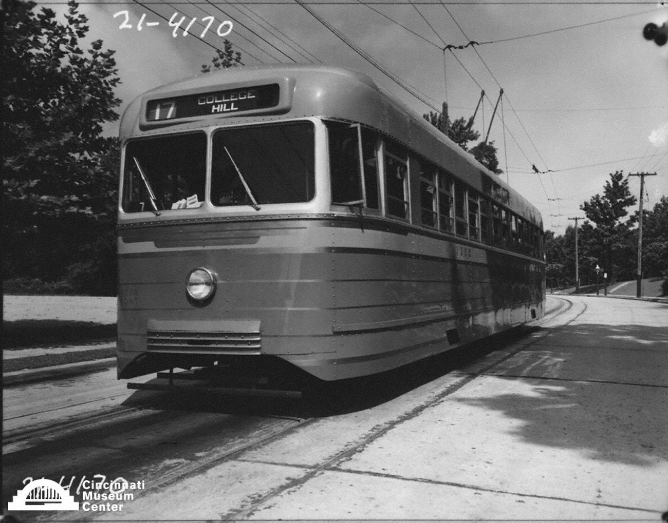 Before owning a car, Briol traveled through Cincinnati via streetcars, lugging his cameras along with him. After getting his own car later in life, driving it would take a pivotal toll on his life when he was severely injured in a head-on collision with a Greyhound Bus outside of Mason, Ohio in 1950. He never fully recovered, and eventually passed away in 1969. Pictured is the Route 17 Streetcar sometime in the early 20th Century. / Image: Paul Briol,  accessed via the Cincinnati Museum Center History Library and Archives // Published: 2.16.19