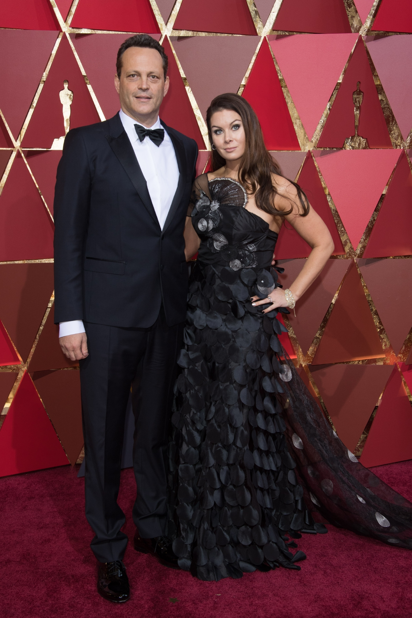 Actor Vince Vaughn and wife, Kyla Weber, arrive on the red carpet at The 89th Oscars® at the Dolby® Theatre in Hollywood, CA on Sunday, February 26, 2017. (A.M.P.A.S.)
