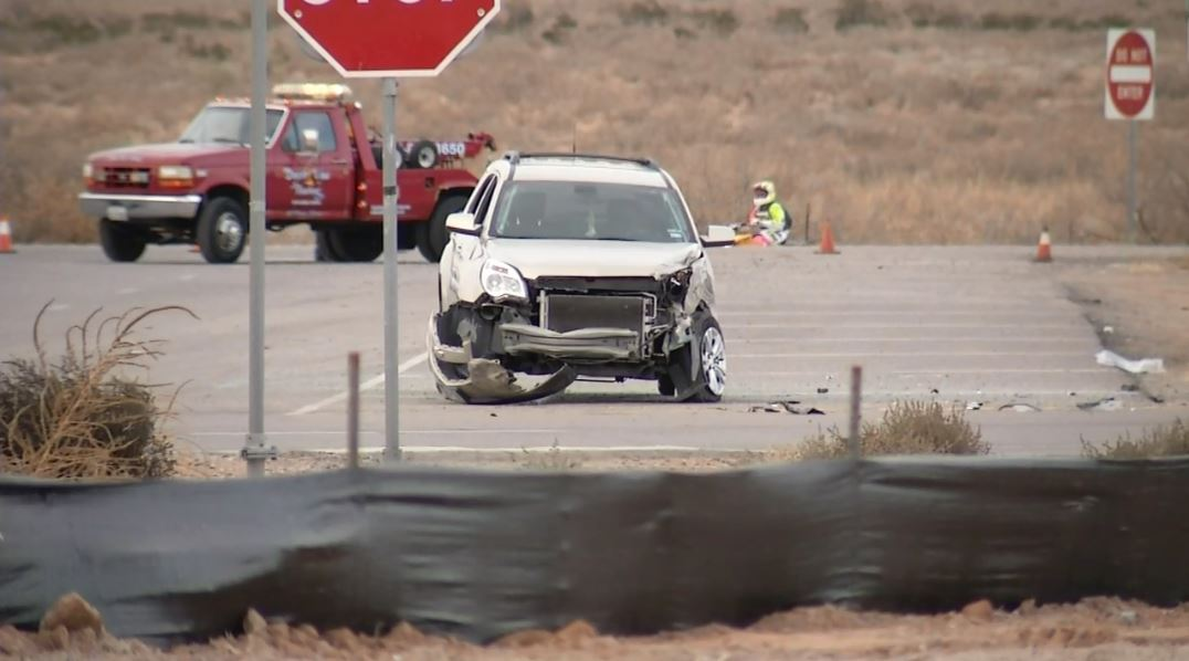 One person has died and another was seriously injured in a        rollover crash in northeast El Paso. Credit: KFOX14 / CBS4