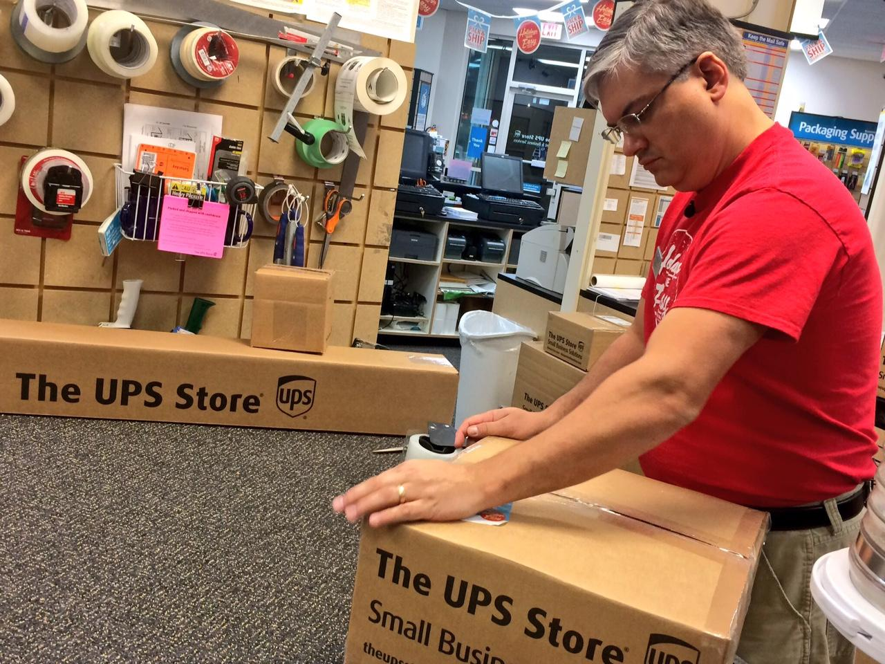 If you have not already packaged your items for shipping, you can leave it to the UPS employees. &quot;Certified Packing Experts&quot; are trained to do the packing. UPS offers protection against loss or damage through the company's &quot;pack and ship guarantee.&quot; (Photo Credit: WLOS Staff).<p></p>