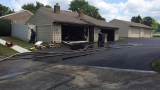 Washington Township fire crews extinguish garage fire