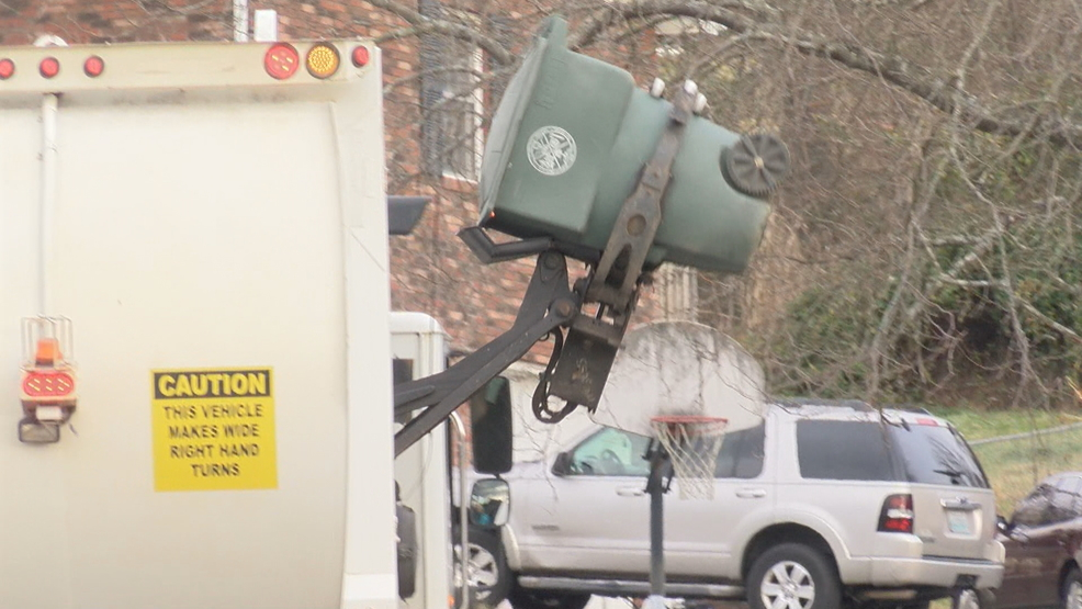 mounting holiday trash picked up by waste disposal crews wcyb
