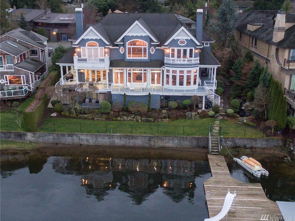 The most expensive home for sale in Issaquah on Zillow is this 5 beds, 6 bath property, going for $5,950,000 and located on Lake Sammamish. It's 8,100 square feet (Image Courtesy of zillow.com).