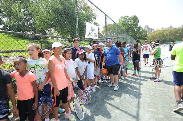 NEW YORK, NY - AUGUST 27:  A general view of the LACOSTE And City Parks Foundation Host Tennis Clinic In Central Park on August 27, 2017 in New York City.  (Photo by Brad Barket/Getty Images for LACOSTE)