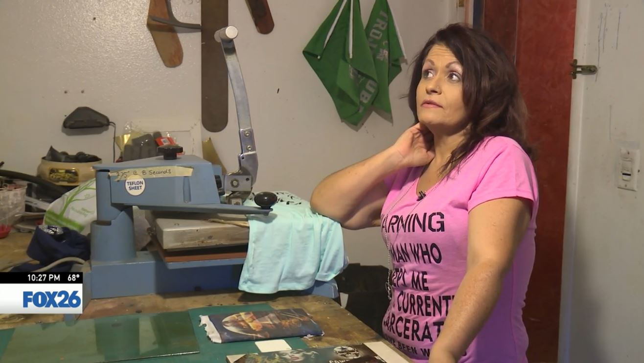 Pink Novoa talks about why she started making shirts (FOX26)