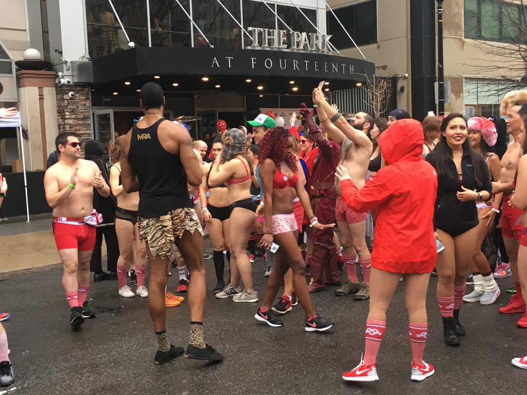 Cupid's Undie Run in Washington, D.C. on Saturday, Feb. 9, 2018. (Image: Kristina Spicer, Circa)