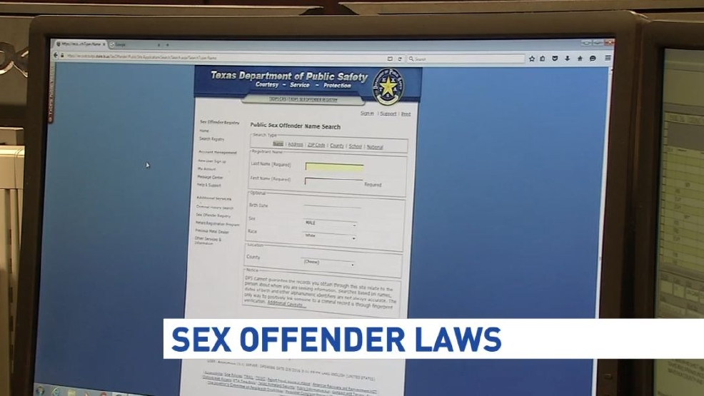 Sex offender restrictions repealed texas
