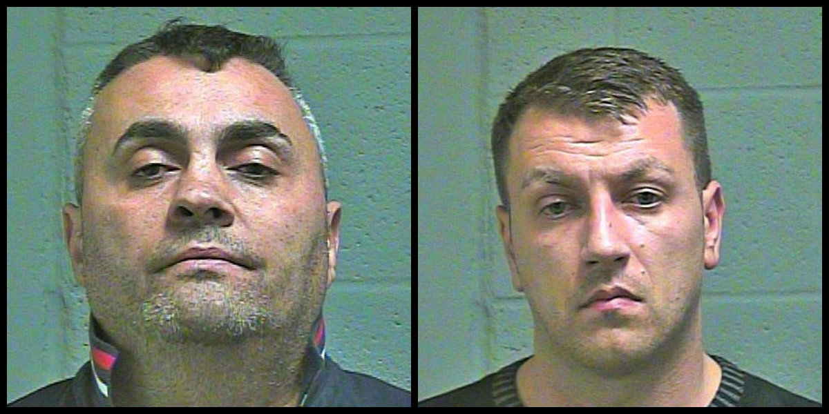 Vasile Gheti and Cosmin Chelarescu were arrested Nov. 30 after allegedly taking a skimmer from an ATM at a northwest Oklahoma City bank. (Oklahoma County Jail)