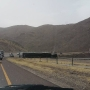 Semitruck overturns on Transmountain Road during strong winds