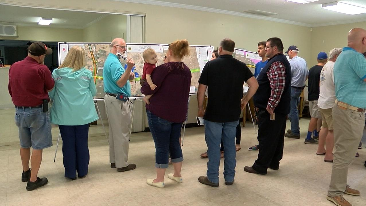 A meeting was held about the proposed NC 43 connector and what it could look like. (Nicole Griffin, NewsChannel 12 photo)
