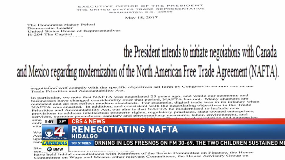 Congressional Letter Trump Plans To Renegotiate Nafta Kgbt