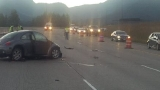 Fatal collision blocks traffic on eastbound I-90 for hours east of Snoqualmie Pass