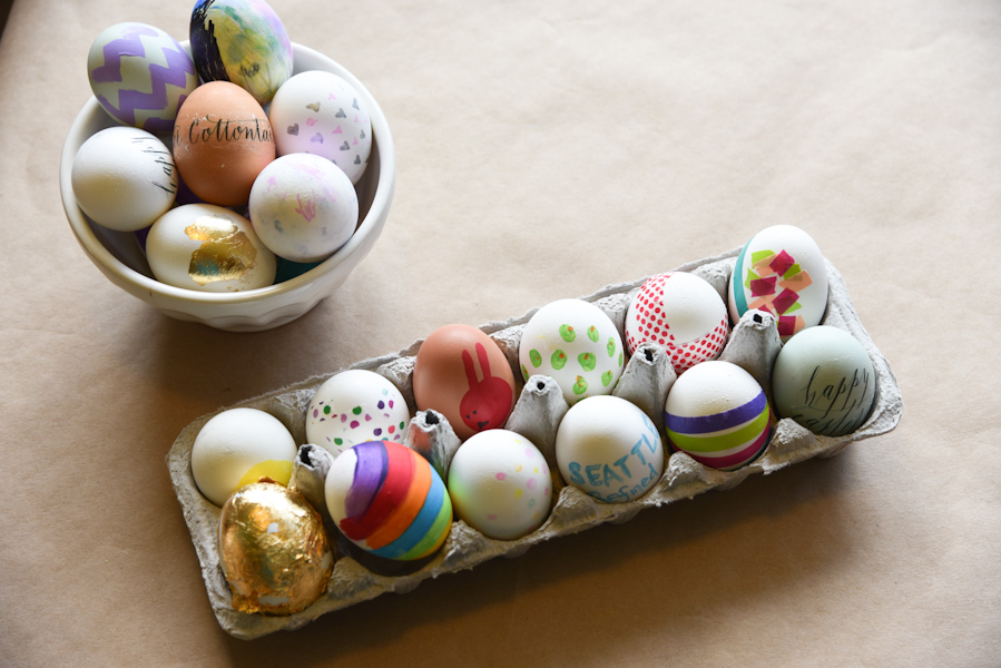 Seattle Refined presents 10 clever ways to decorate eggs. (Image: Rebecca Mongrain/Seattle Refined)