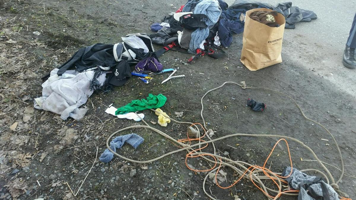 Contents of the backpacks - Image from Oregon State Police