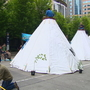 Seattle Police admit they weren't ready for teepee protest that took over downtown street