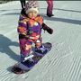 Two days before her 1st birthday, this Idaho girl goes snowboarding