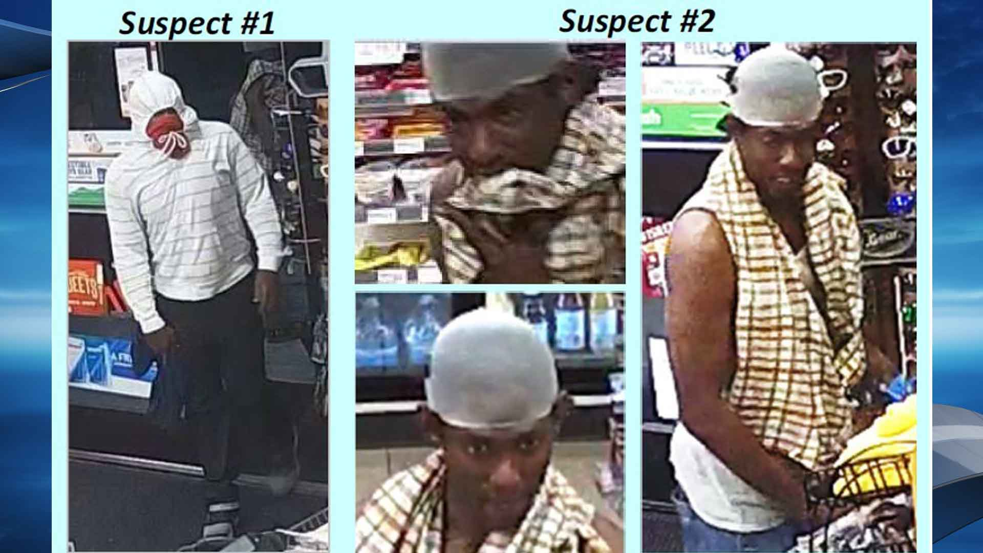 Police are asking for the public's help in identifying two men they say robbed an East Austin convenience store last month. (Photos courtesy: Austin Police Department)