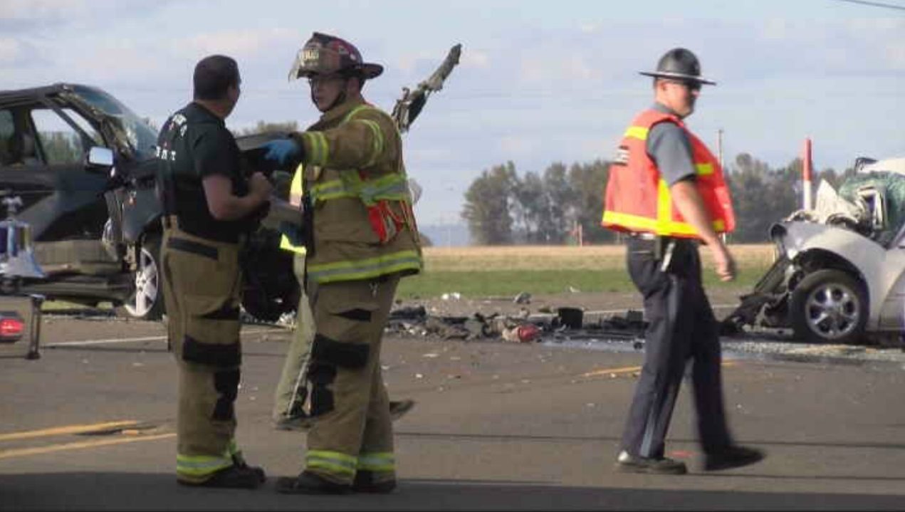 Head-on crash outside Salem - KATU photo<p></p>