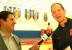 Niko Tamurian and Syracuse basketball coach Mike Hopkins. (CNYCentral)