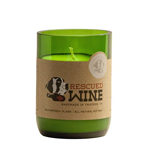 Clear the air of wet dog smell with a candle from{&amp;nbsp;} Rescued Wine Pet Candle.{&amp;nbsp;} Made of a calming, refreshing medley of clean herbs, fresh grass, and citrus, this candle is ideal for pet-loving households. Contained in up-cycled wine bottles and made of essential infused soy wax, the Rescued Wine Pet Candle is made in small batches.{&amp;nbsp;}Available at uncommongoods.com. (Image:{&amp;nbsp;}Uncommon Goods)<p></p>
