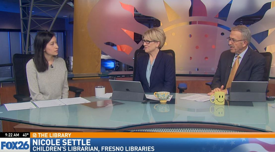This month, children's librarian, Nicole Settle visited Great Day to talk about all the events planned for December.