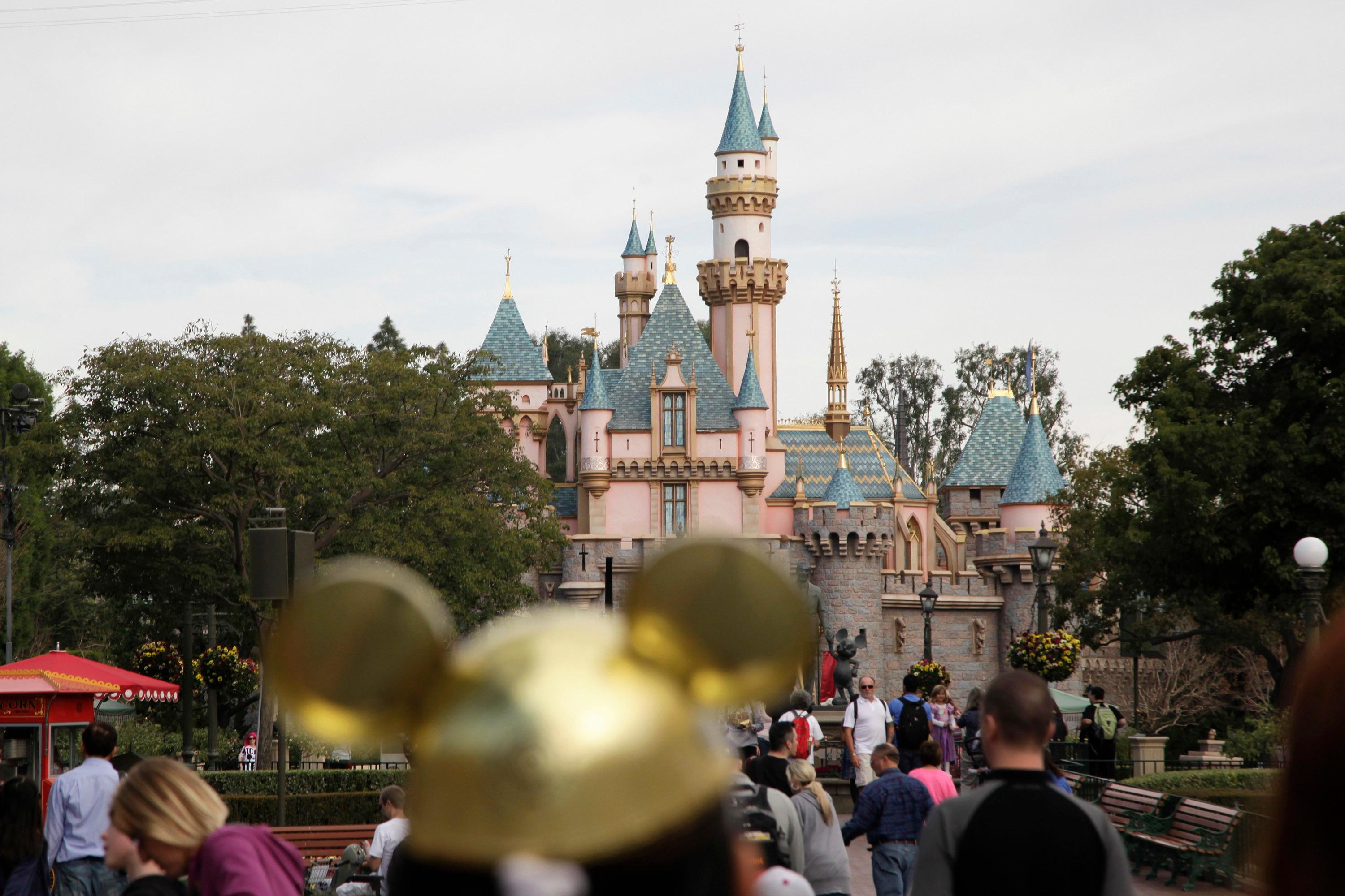 FILE - This Jan. 22, 2015 file photo shows Sleeping Beauty's Castle at the Disneyland theme park in Anaheim, Calif. In response to a Los Angeles Times series about the relationship between the Walt Disney Co. and the city of Anaheim, the company is barring the paper from advance screenings of its films. The paper ran a two-part series in late September 2017 looking into what it characterized as a complicated and increasingly tense relationship between the city and the Disneyland Resort. (AP Photo/Jae C. Hong, File)