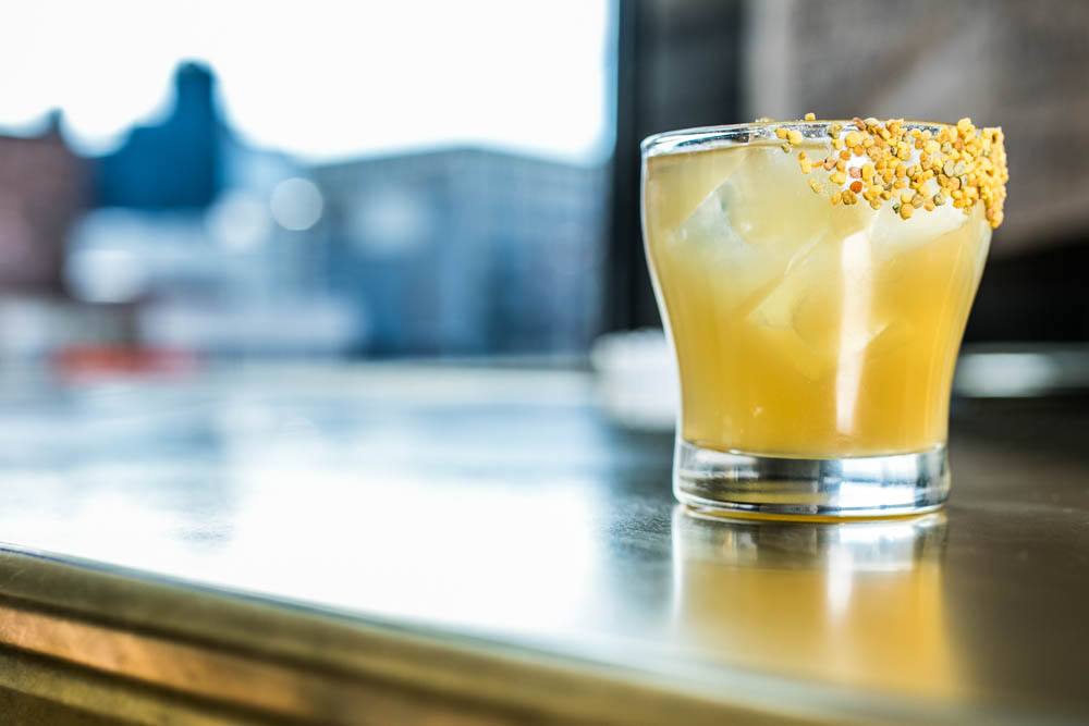 <p>The Boomtown Gold Rush: Bulleit bourbon, fresh lemon juice, and herbed honey / Image: Amy Elisabeth Spasoff // Published: 4.2.18 </p>