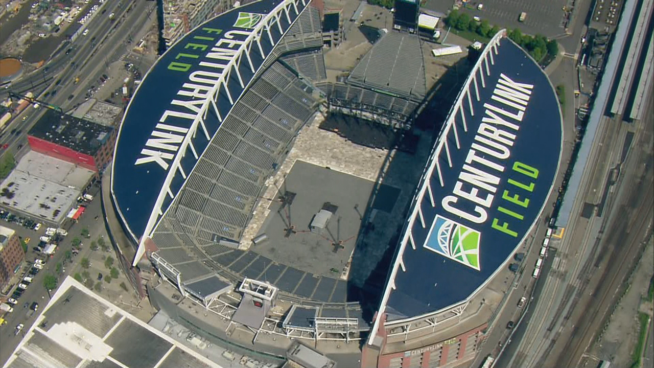 CenturyLink Field is prepared for a U2 concert scheduled for Sunday, May 14, 2017. (PhotoL KOMO News)