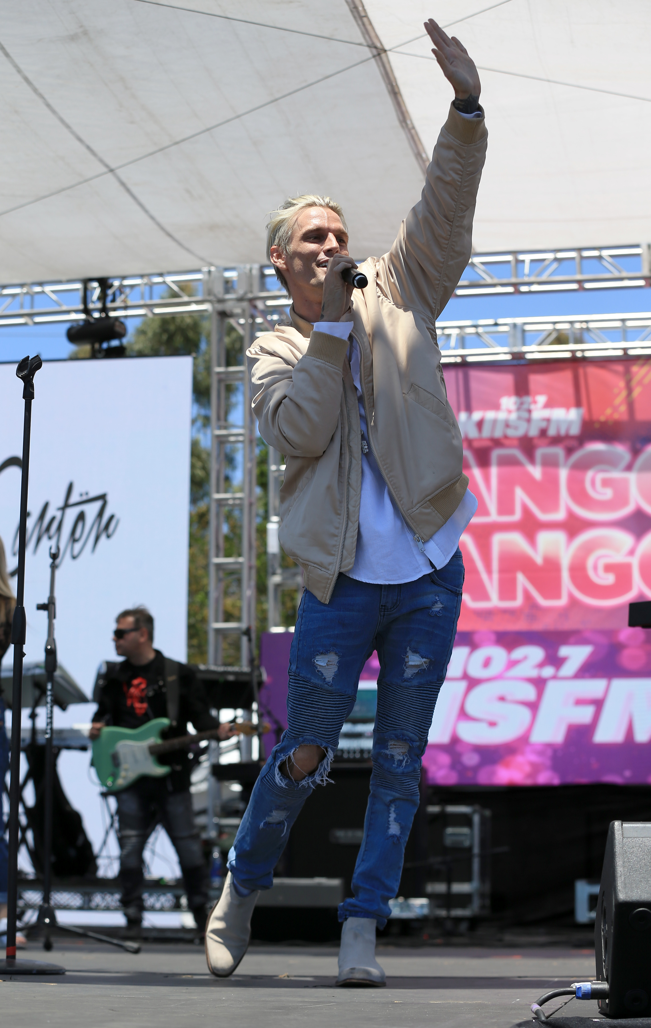 Aaron Carter at 102.7 KIIS FM's 2017 Wango Tango Show in Carson, California on May 13, 2017.  (FayesVision/WENN.com)