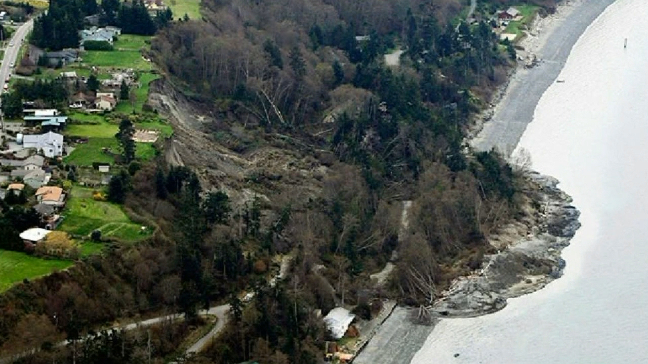 The heavy rain this week is a reminder that communities across Puget Sound can be susceptible to landslides. (Photo: Whidney Island, 2013 - KOMO News/Air 4){&amp;nbsp;}<p></p>