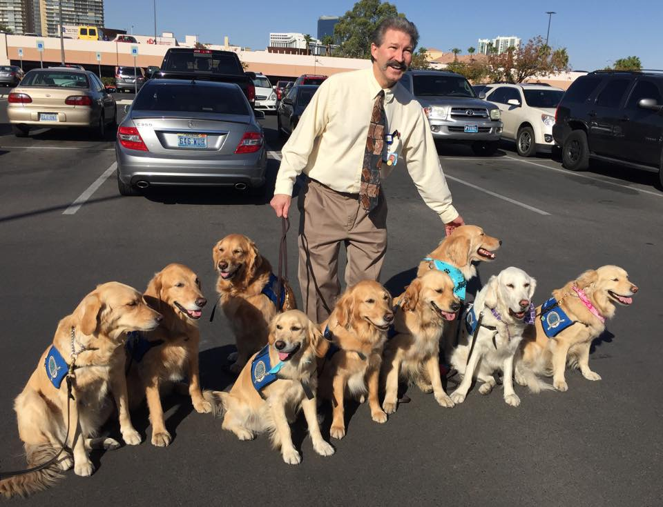 Therapy dogs visit those affected by the Las Vegas shooting. (Courtesy: LCC K-9 Comfort Dogs Facebook)