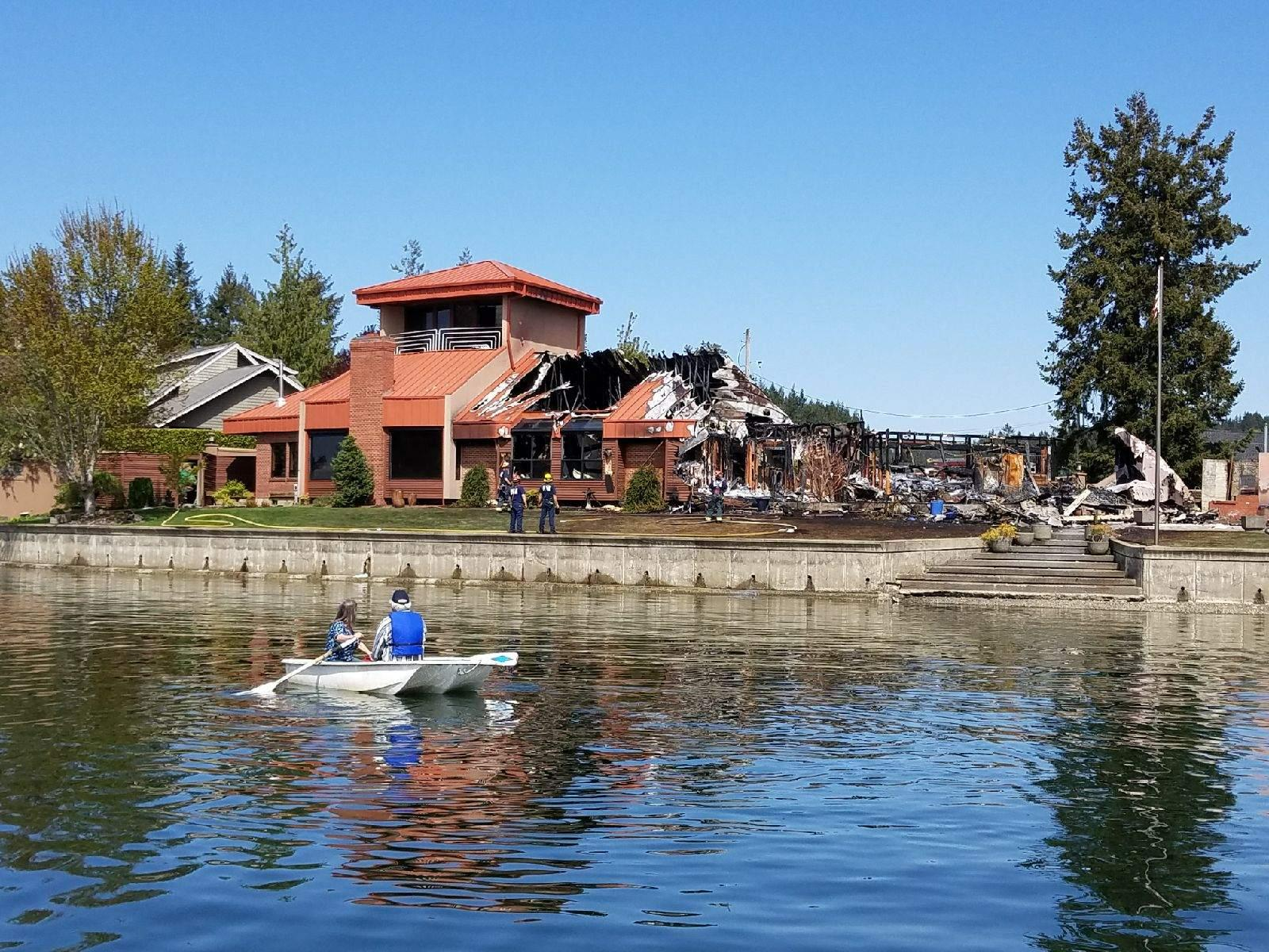 Aftermath of a Gig Harbor home gutted by a fire ( Photo courtesy Gregg May){&amp;nbsp;}<p></p>