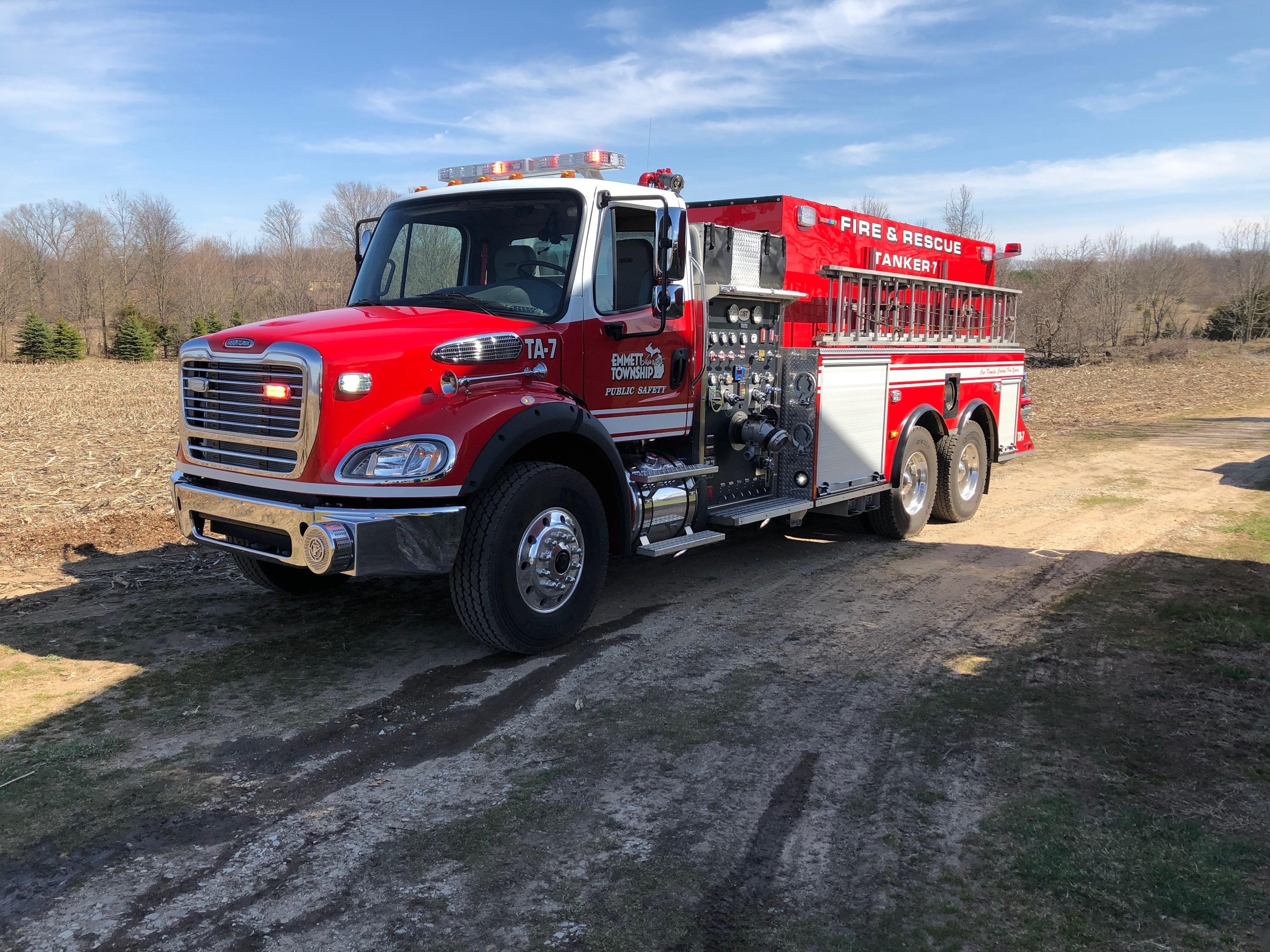 According to Marshall Township fire chief, a controlled burn that got out of hand due to wind conditions at 14693 L Drive North has now burned upwards of 25 acres. Although the fire is mostly under control now, fire officials are still working to get it under control. (Emmett Township Department of Public Safety)
