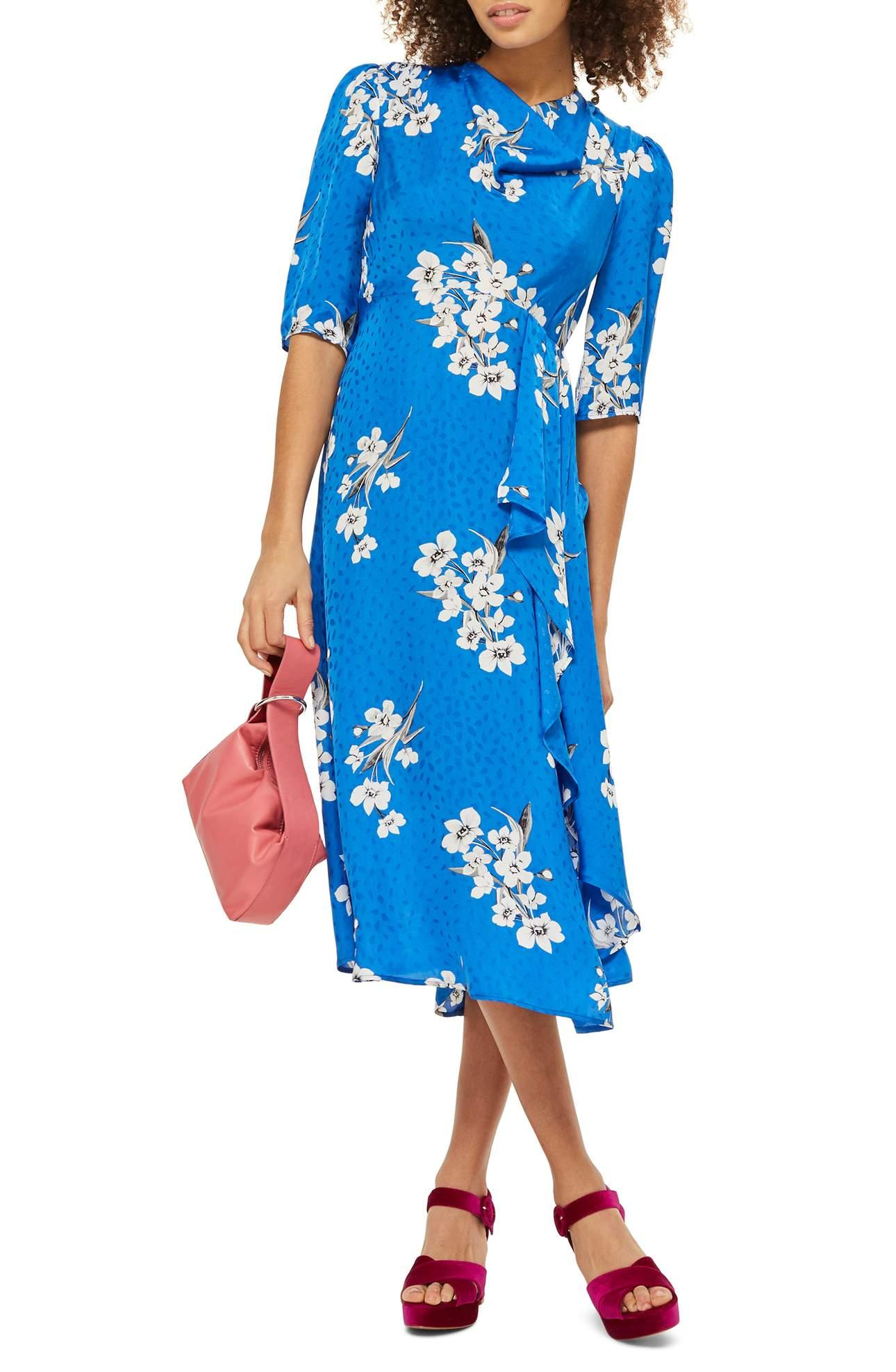 <p>Floral print is not going anywhere anytime soon.{&nbsp;} Check out this Floral Print Midi Dress/TOPSHOP.{&nbsp;}Elegant white flowers pattern a whimsical, jacquard-woven dress with a flowing hemline that falls just below the knee. Super flattering! $125.00 at Nordstrom. (Image: Nordstrom){&nbsp;}</p><p><br></p><p></p>